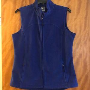 Blue fleece champion vest. Sz XL zip up vest.